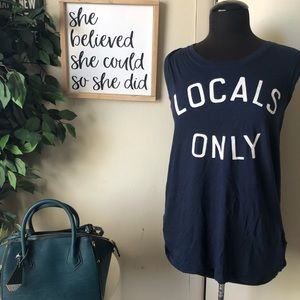 """Sundry """"Locals Only"""" Muscle Tank Top Size L"""